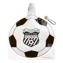 HydroPouch™ Collapsible Water Bottle - Soccer Ball, 24oz., BPA Free