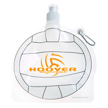 HydroPouch™ Collapsible Water Bottle - Volleyball, 24oz., BPA Free