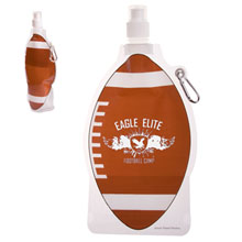 HydroPouch™ Collapsible Water Bottle - Football, 22oz., BPA Free