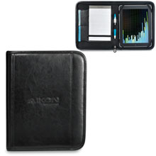 Deluxe Leather Wired-E Padfolio, iPad Compatible
