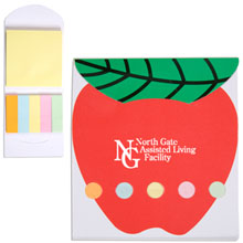 Pocket Sticky Note Memo Book - Apple
