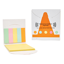 Pocket Sticky Note Memo Book - Safety Cone
