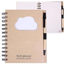 Recycled Die Cut Cloud Notebook