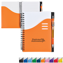 "Color Wave Notebook & Pen Set, 5-1/2"" x 7"""