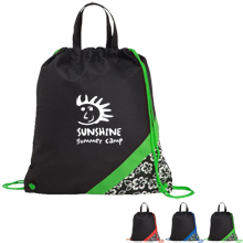 Poly Pro Hibiscus Accent Cinch Tote