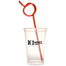 Apple Krazy Straw Sipper