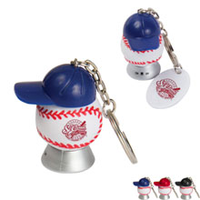 Light Up Baseball Keytag