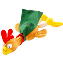 Flying Crowing Plush Rooster