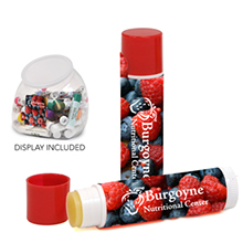 Assorted Premium Lip Balm SPF 15 w/ Bubble Countertop Display