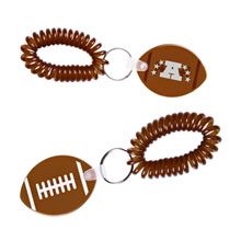 Coil Key Chain - Football