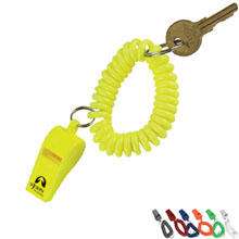 Whistle Coil Key Chain