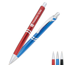 Trapeze Ballpoint Metal Gift Pen - Closeout, On Sale!