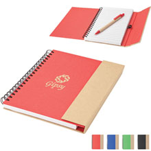 Recycled Notebook w/ Magnetic Closure & Pen