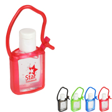 Cool Clip Hand Sanitizer Gel in Silcone Carrier, .5oz.