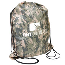 Camouflage 210D Polyester Drawstring Backpack