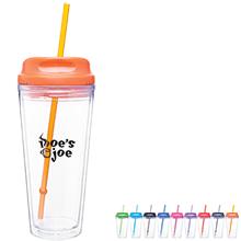 Acrylic Beverage Tumbler with Hot/Cold Lid, 20oz.