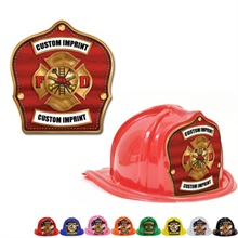 Chief's Choice Kid's Firefighter Hat, Bronze Maltese Design