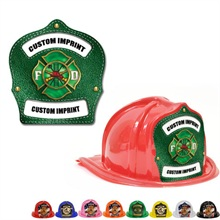 Chief's Choice Kid's Firefighter Hat, Green Maltese Design