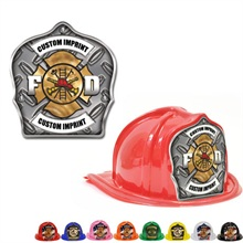 Chief's Choice Kid's Firefighter Hat, Diamond Plate Design