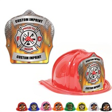 Chief's Choice Kid's Firefighter Hat, Flame Design