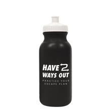 Have Two Ways Out Bike Bottle, 20oz., Stock