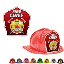 Chief's Choice Kid's Firefighter Hat, Fire Chief Silver Trim Design, Stock