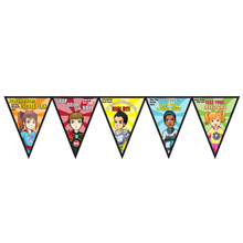 Fire Prevention Full Color Poly Pennant Banner