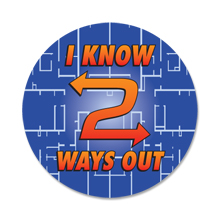 I Know Two Ways Out Sticker Roll, Stock - Closeout, On Sale!