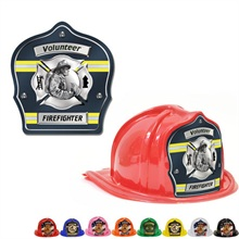 Chief's Choice Kid's Firefighter Hat, Fireman Design w/ Blue Background, Stock