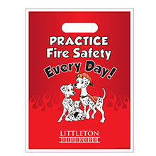 Custom Full Color Litterbag, Practice Fire Safety Dalmatian Family