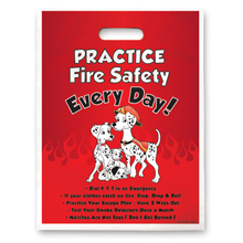 Full Color Litterbag, Practice Fire Safety Dalmatian Family Stock