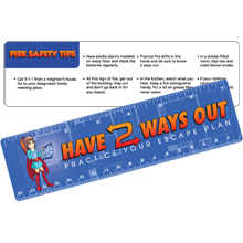 Safety Laminated Have 2 Ways Out Ruler, Stock