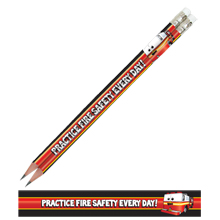 Practice Fire Safety, Stock Full Color Pencil