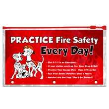 Practice Fire Safety Pencil Pouches, Stock