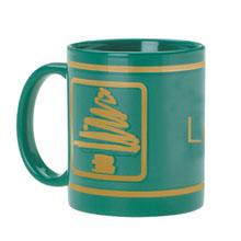 Ceramic Mug w/ Christmas Tree Design, 11oz. - Green