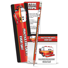 Happy Fire Truck Practice Fire Safety Every Day Teaching Aid Kit, Stock