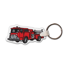 Fire Truck II Full Color Key Tag