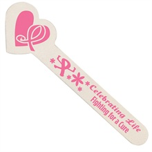 "Heart Shaped Emery Boards (Pack of 100), ""Celebrating Life, Fighting for a Cure"" Breast Cancer Awareness, Stock - On Sale, Closeout!"