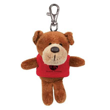 Dog Wild Bunch Plush Key Tag