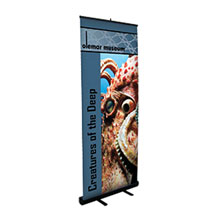 Economy Retractor Banner Display Kit, 33-1/2""