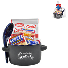 "Appreciation Soup & Crackers Mug Gift Set, ""Our Service is Souper!"" Design, Stock"