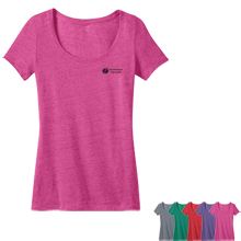 District Made™ Ladies' Textured Scoop Tee