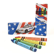 Four Pack Crayons, Patriotic Police Stock