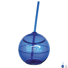 Fiesta Beverage Ball with Straw, 20 oz., BPA Free