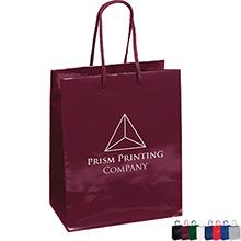 "Gloss Finish Eurotote Gift Bag, 7-3/4"" x 9-3/4"""