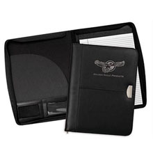 Achiever Leather Zippered Padfolio