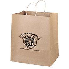 """Eco Paper Shopper Bag, 14"""" x 15-1/2"""""""