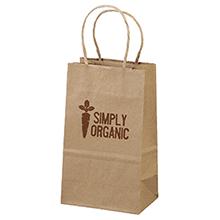 """Eco Paper Shopper Bag, 5-1/4"""" x 8-1/4"""""""