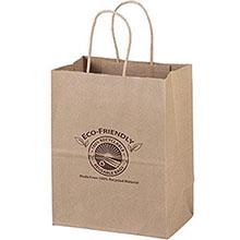 """Eco Paper Shopper Bag, 7-3/4"""" x 9-3/4"""""""