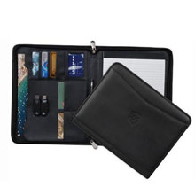 Ambassador Leather Zippered Padfolio